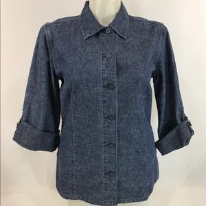 Christopher & Banks Denim Shirt tunic large